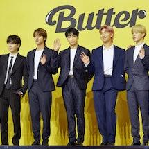 BTS won Song of the Summer at the 2021 MTV VMAs. Photo via The Chosunilbo JNS/ImaZinS/Getty Images