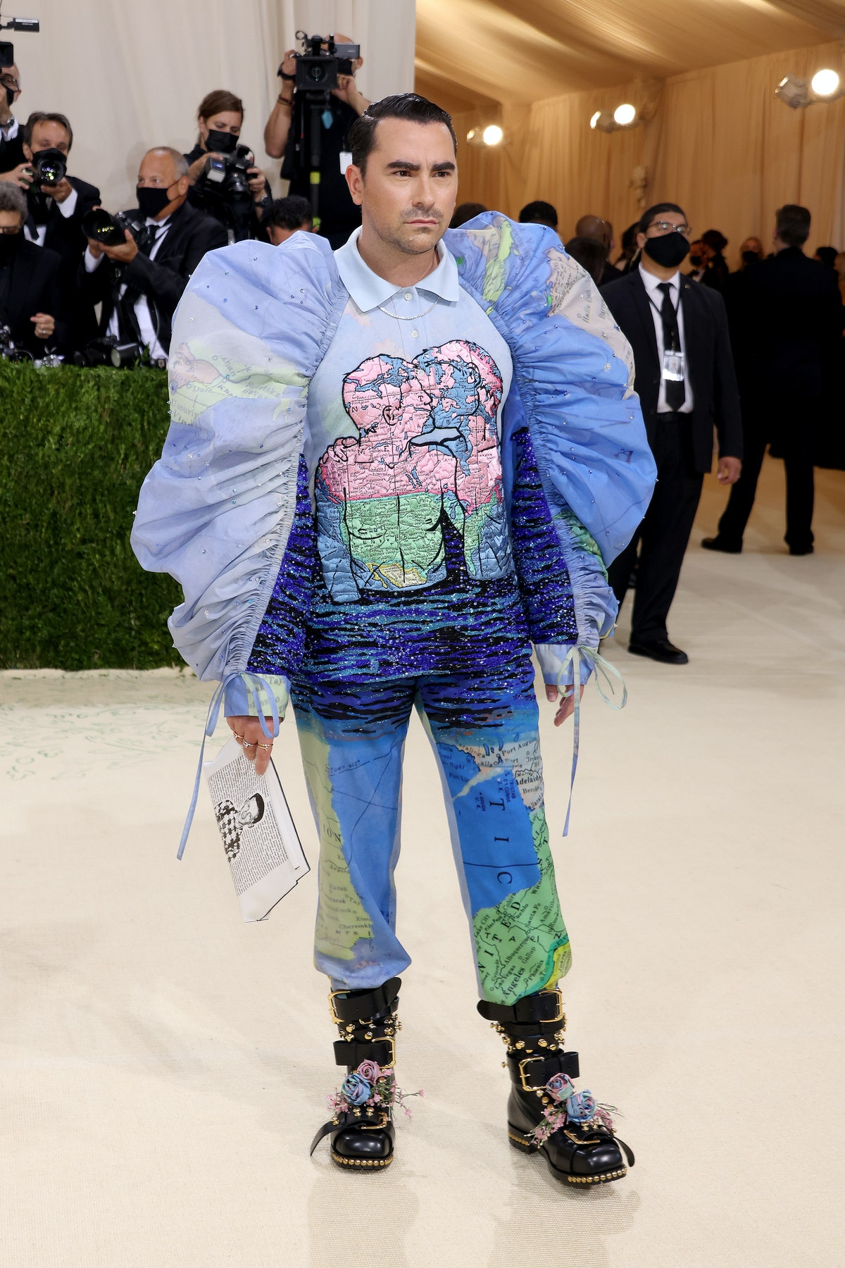 Dan Levy attends The 2021 Met Gala Celebrating In America: A Lexicon Of Fashion.