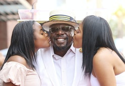 HOLLYWOOD, CA - JULY 19:  Cedric Antonio Kyles aka Cedric The Entertainer (C) and his wife, Lorna We...