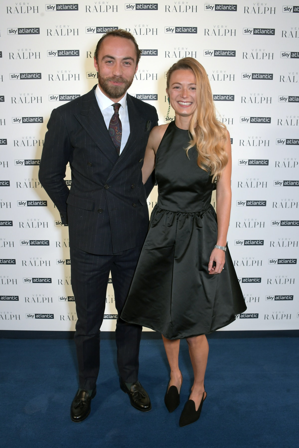 James Middleton and Alizee Thevenet attend the UK Premiere of 'Very Ralph' in London. The couple got...