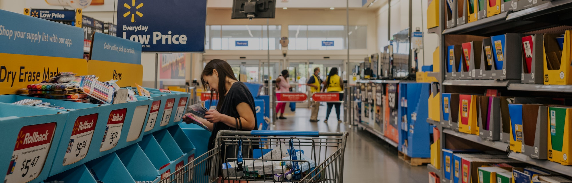 HOUSTON, TEXAS - AUGUST 04: A customer shops at a Walmart store on August 04, 2021 in Houston, Texas...