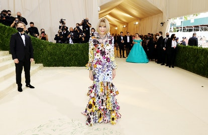 NEW YORK, NEW YORK - SEPTEMBER 13: Anna Wintour attends The 2021 Met Gala Celebrating In America: A ...