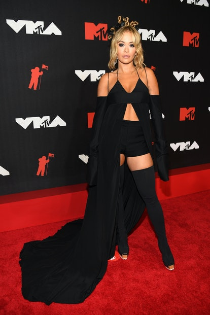 NEW YORK, NEW YORK - SEPTEMBER 12: Rita Ora attends the 2021 MTV Video Music Awards at Barclays Cent...