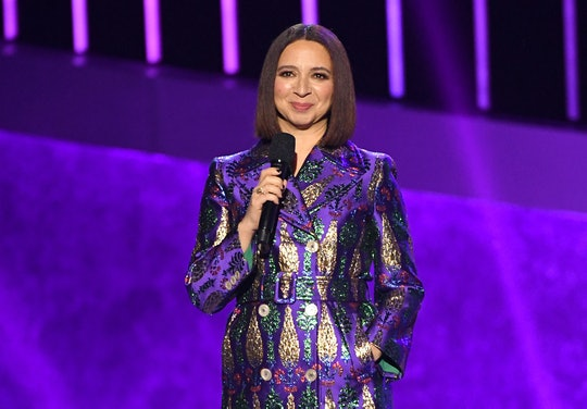 LOS ANGELES, CALIFORNIA - JANUARY 28: Maya Rudolph speaks onstage during the 62nd Annual GRAMMY Awar...