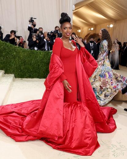 NEW YORK, NEW YORK - SEPTEMBER 13: Jennifer Hudson attends The 2021 Met Gala Celebrating In America:...