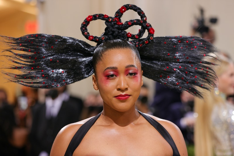Co-chair Naomi Osaka attends The 2021 Met Gala Celebrating In America: A Lexicon Of Fashion at Metro...