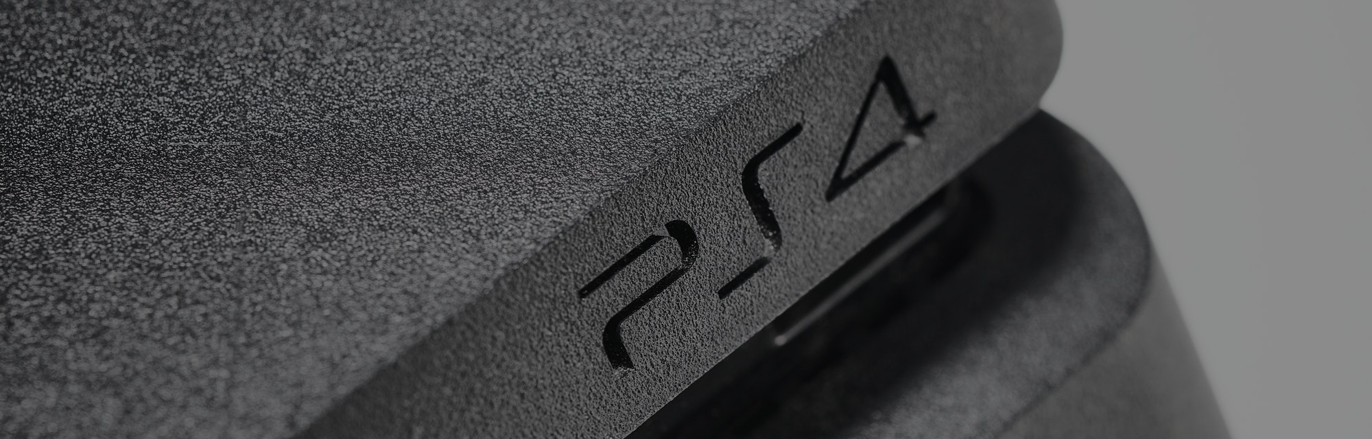 Detail of a Sony PlayStation 4 video game console, taken on February 14, 2020. (Photo by Neil Godwin...