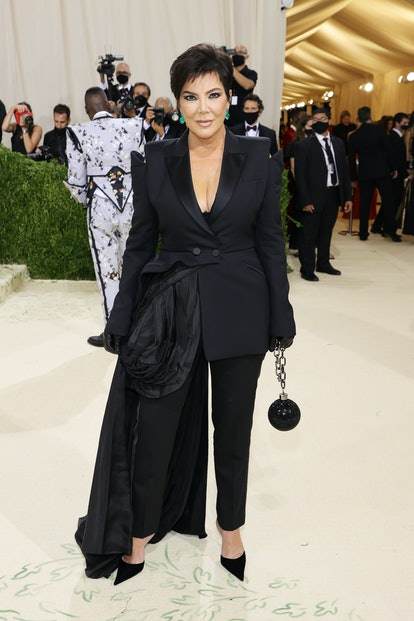 NEW YORK, NEW YORK - SEPTEMBER 13: Kris Jenner attends The 2021 Met Gala Celebrating In America: A L...