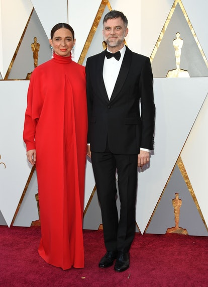 US actress Maya Rudolph and Director Paul Thomas Anderson arrive for the 90th Annual Academy Awards ...