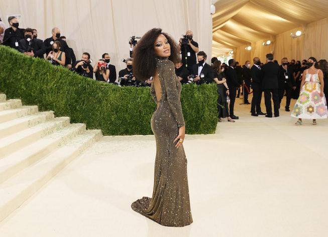 NEW YORK, NEW YORK - SEPTEMBER 13: Keke Palmer attends The 2021 Met Gala Celebrating In America: A L...
