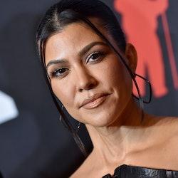 NEW YORK, NEW YORK - SEPTEMBER 12: Kourtney Kardashian attends the 2021 MTV Video Music Awards at Ba...