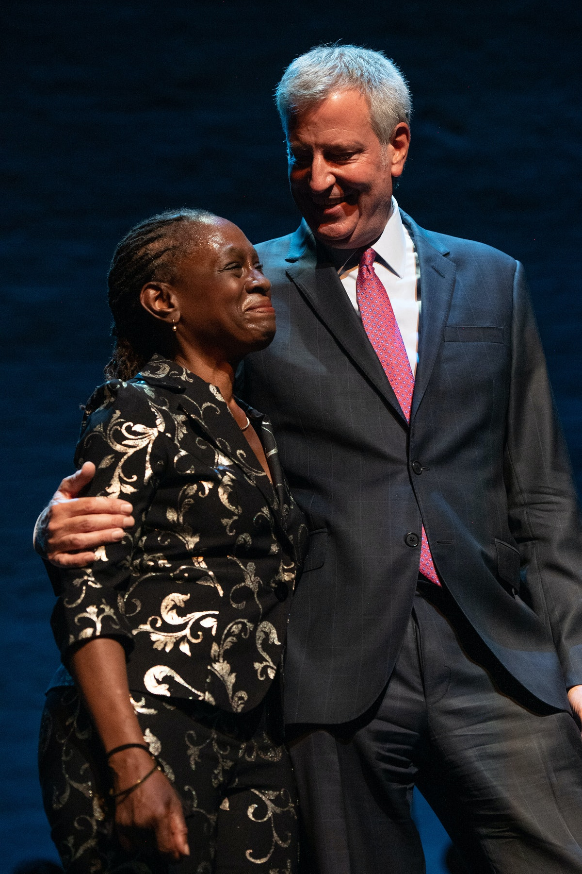 NEW YORK, NEW YORK - AUGUST 28: New York City Mayor Bill de Blasio and his wife Chirlane McCray atte...