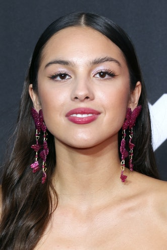 NEW YORK, NEW YORK - SEPTEMBER 12: Olivia Rodrigo attends the 2021 MTV Video Music Awards at Barclay...