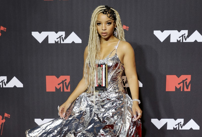 Chlöe Bailey's VMAs 2021 red carpet look sparked conversation, from the fabric to the interesting an...