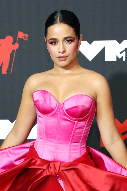 NEW YORK, NEW YORK - SEPTEMBER 12: Camila Cabello attends the 2021 MTV Video Music Awards at Barclay...