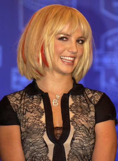 Britney Spears during NFL Kickoff Live 2003 Presented By Pepsi Vanilla - Talent Press Conference at ...