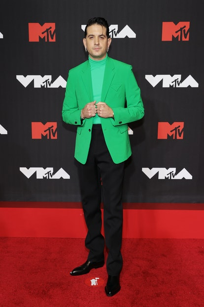 NEW YORK, NEW YORK - SEPTEMBER 12: G-Eazy attends the 2021 MTV Video Music Awards at Barclays Center...