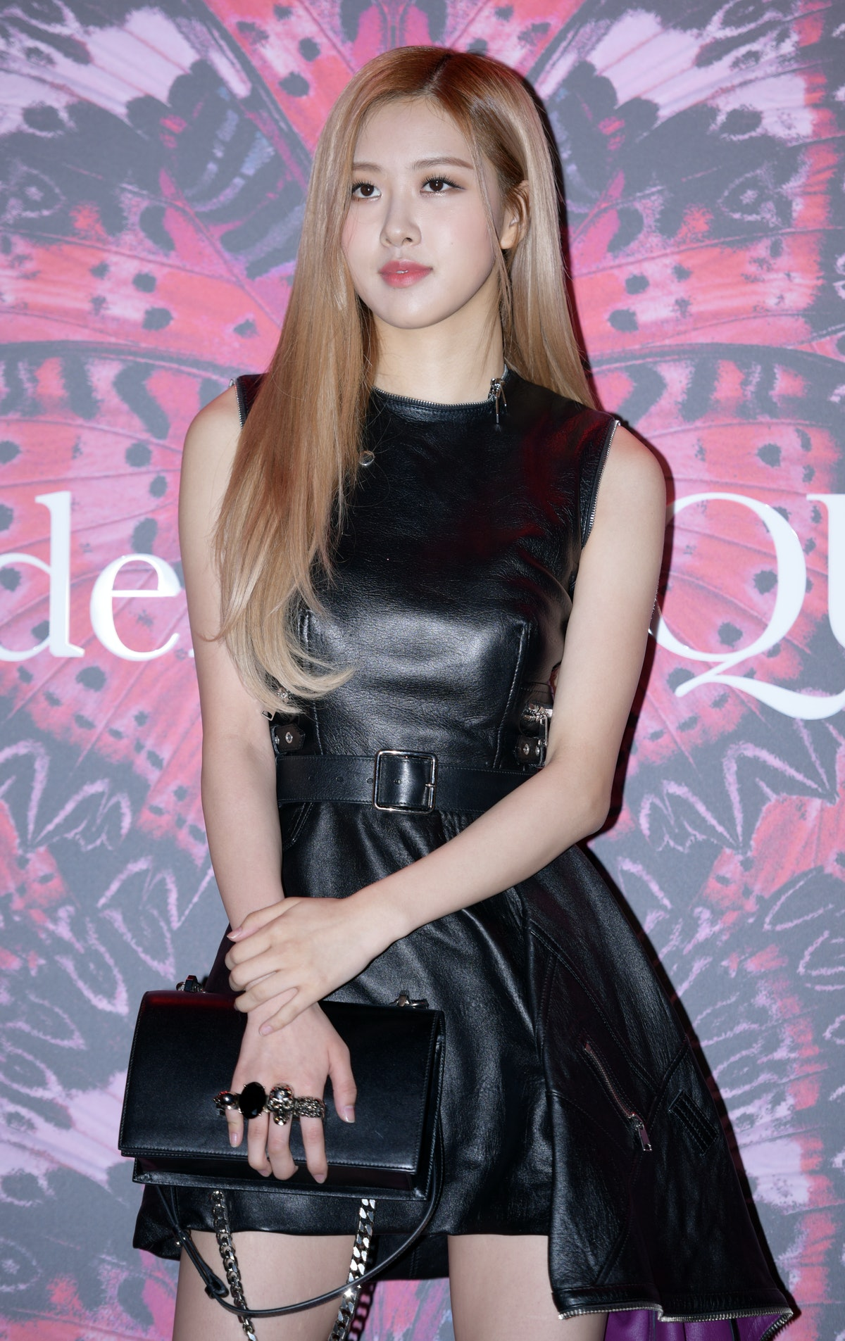 SEOUL, SOUTH KOREA - OCTOBER 16: Rose of BLACKPINK attends the Alexander Mcqueen F/W Collection Exhi...
