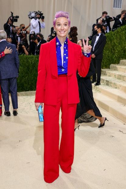 NEW YORK, NEW YORK - SEPTEMBER 13: Megan Rapinoe attends The 2021 Met Gala Celebrating In America: A...