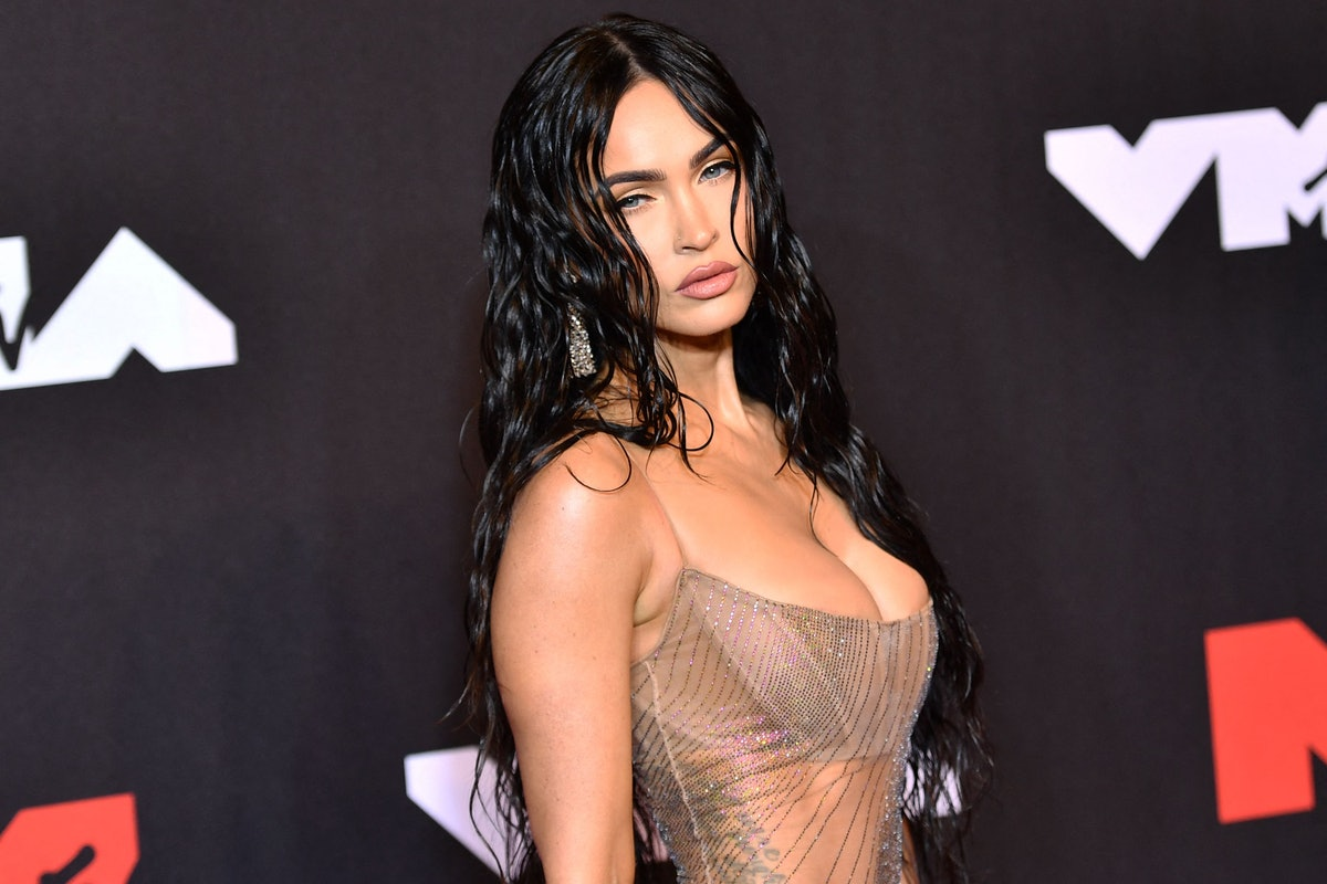 US actress Megan Fox arrives for the 2021 MTV Video Music Awards at Barclays Center in Brooklyn, New...