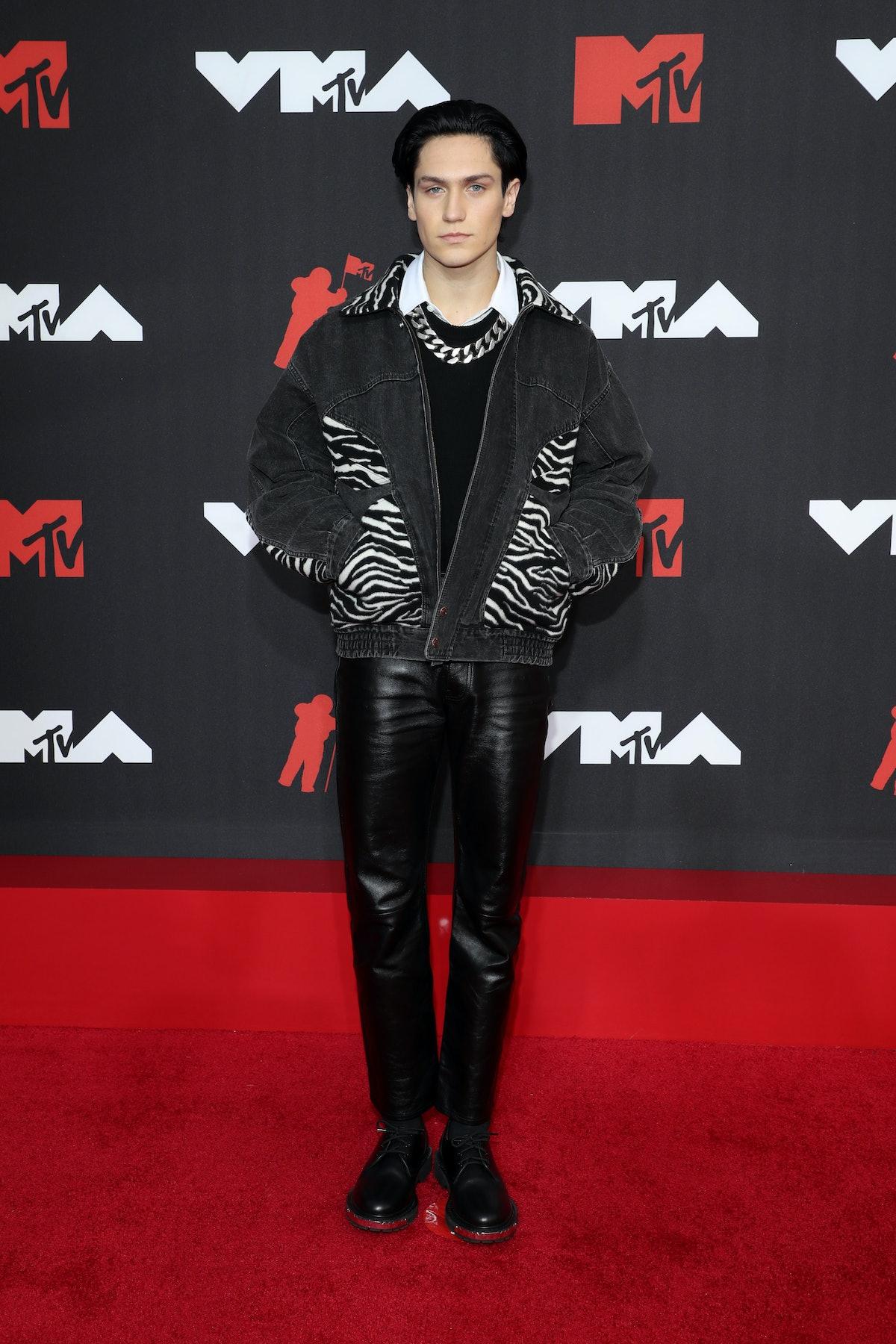 NEW YORK, NEW YORK - SEPTEMBER 12: Lil Huddy attends the 2021 MTV Video Music Awards at Barclays Cen...
