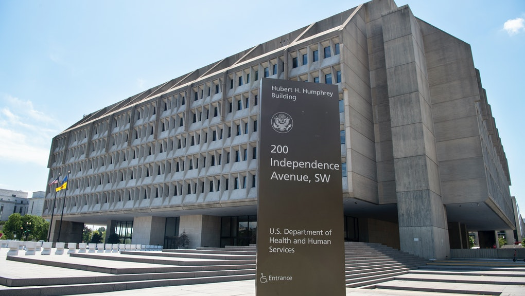 UNITED STATES - JULY 13: The U.S. Department of Health and Human Services building is pictured in Wa...