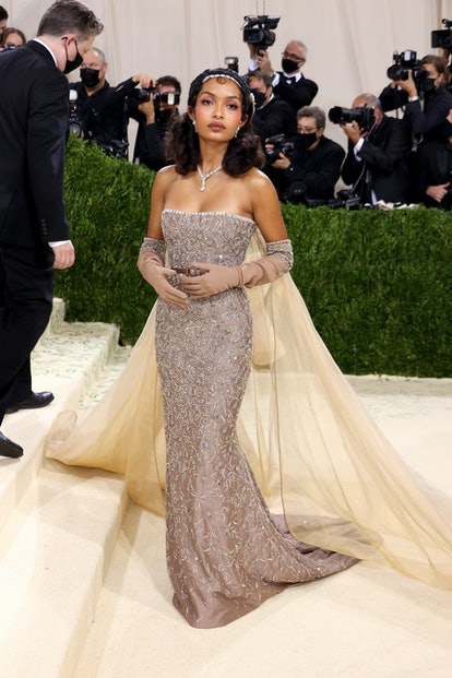 NEW YORK, NEW YORK - SEPTEMBER 13: Yara Shahidi attends The 2021 Met Gala Celebrating In America: A ...