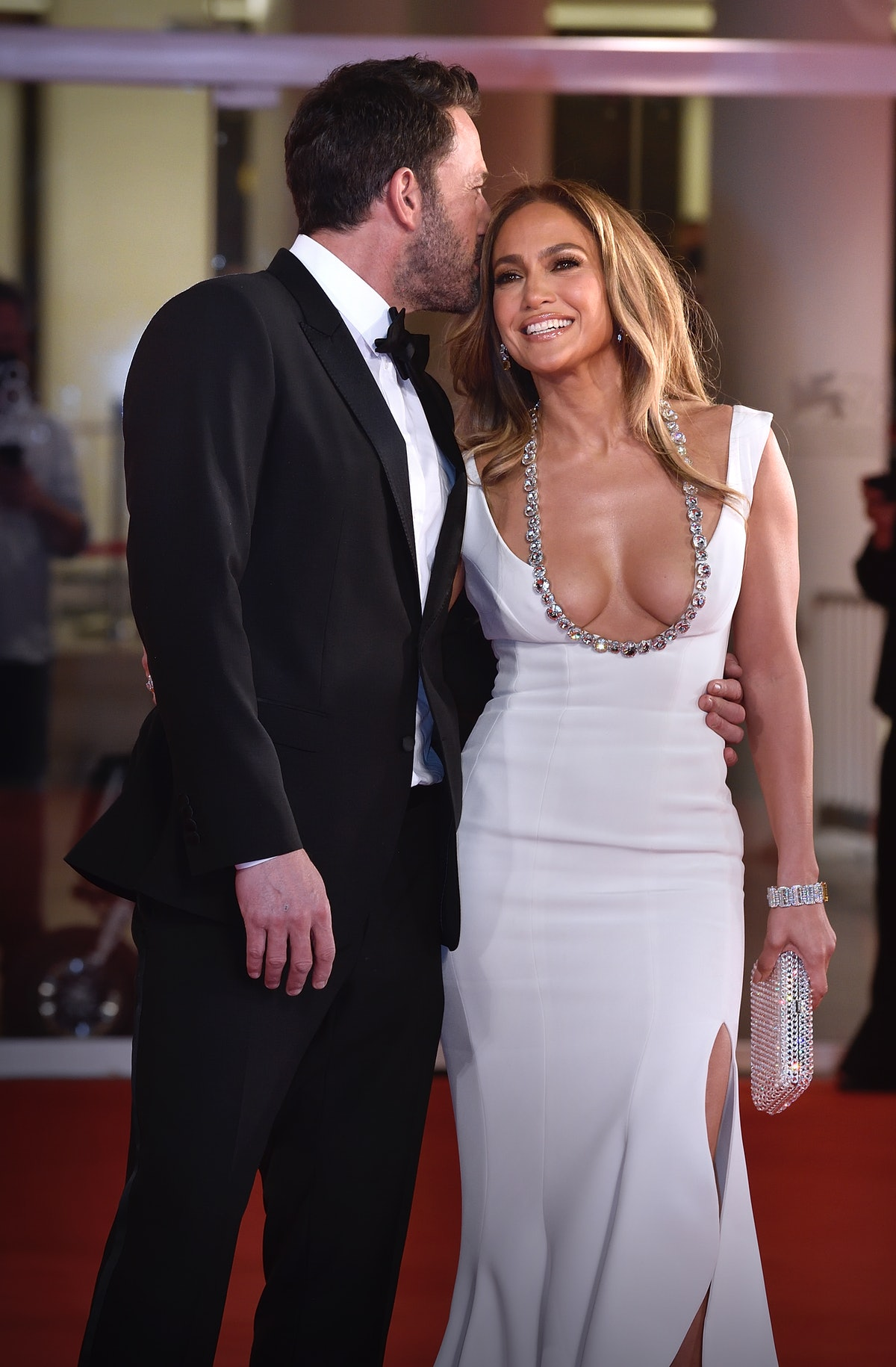 Ben Affleck and Jennifer Lopez's body language at the Venice Film Festival included some sweet momen...