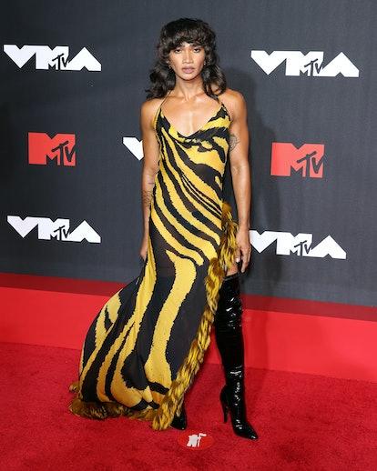 NEW YORK, NEW YORK - SEPTEMBER 12: Bretman Rock attends the 2021 MTV Video Music Awards at Barclays ...