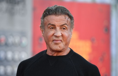"""Actor Sylvester Stallone arrives for the premiere of """"The Suicide Squad"""" at the Regency Village thea..."""