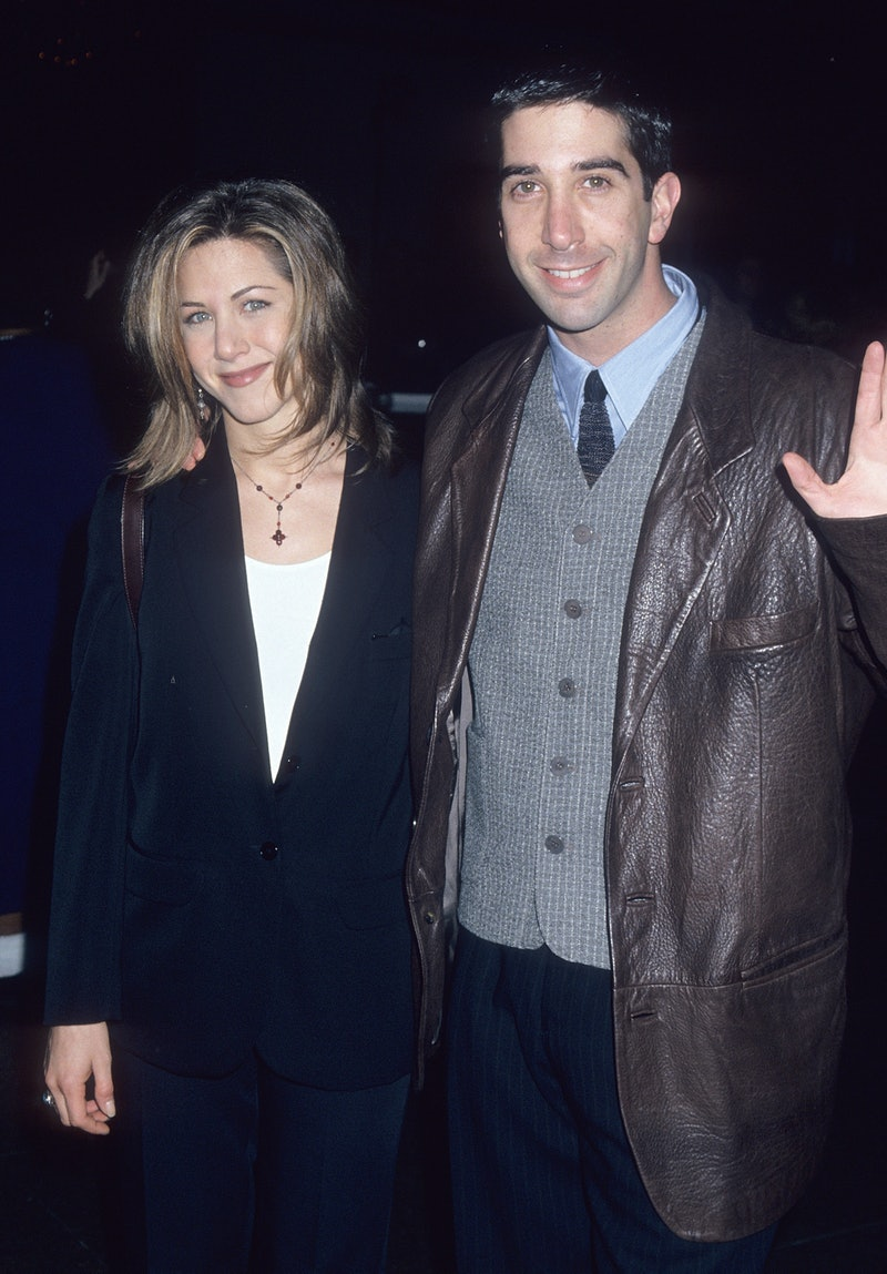 """WEST HOLLYWOOD, CA - JANUARY 26:   Actress Jennifer Aniston and actor David Schwimmer attend the """"Be..."""
