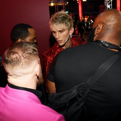 Conor McGregor and Machine Gun Kelly attend the 2021 MTV Video Music Awards.