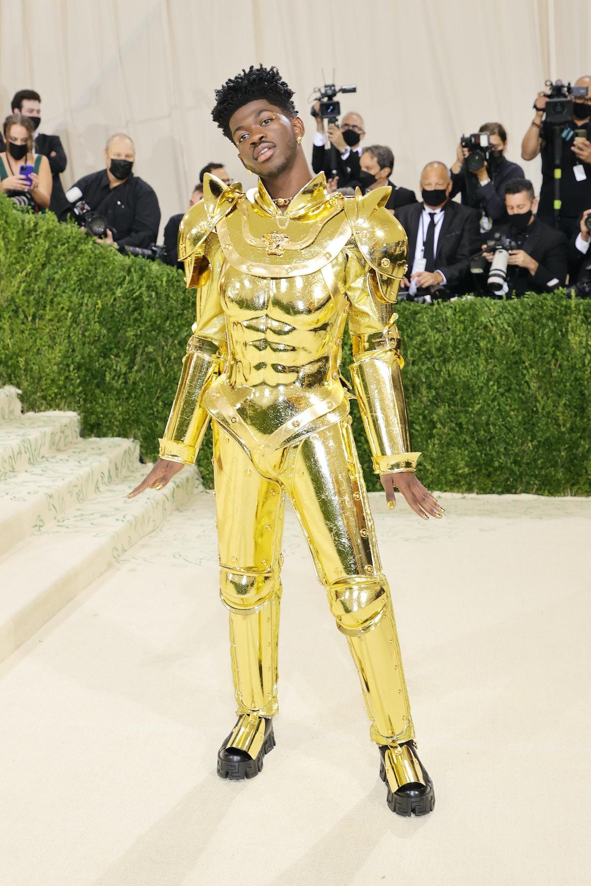 Lil Nas X's second Met Gala look designed by Versace.