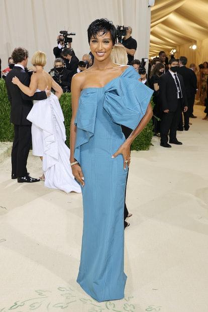 NEW YORK, NEW YORK - SEPTEMBER 13: Jasmine Tooks attends The 2021 Met Gala Celebrating In America: A...