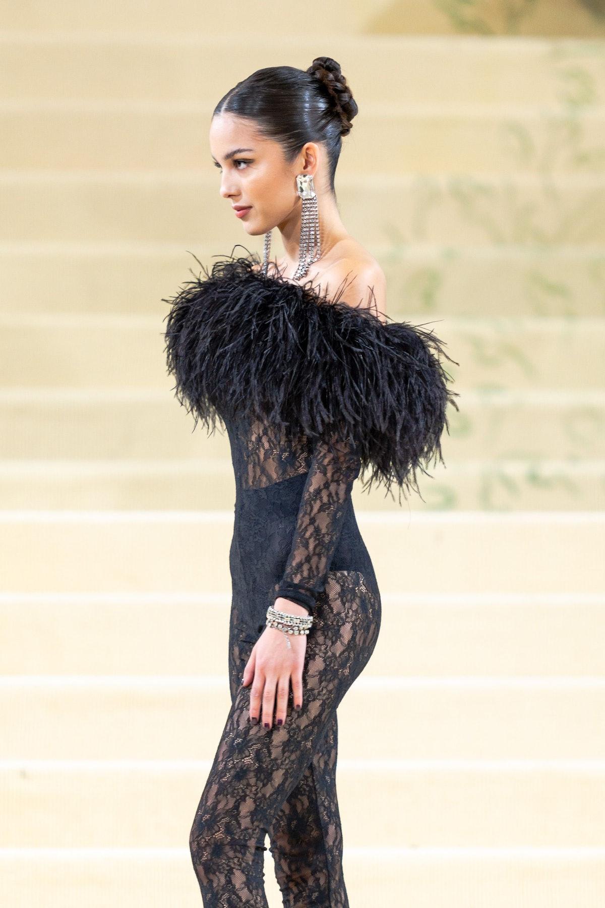 NEW YORK, NEW YORK - SEPTEMBER 13: Olivia Rodrigo attends the 2021 Met Gala celebrating In America: ...