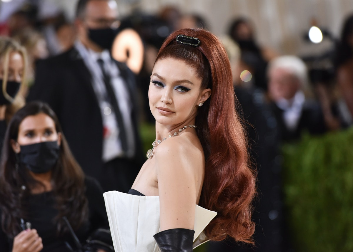 NEW YORK, NEW YORK - SEPTEMBER 13: Gigi Hadid attends 2021 Costume Institute Benefit - In America: A...
