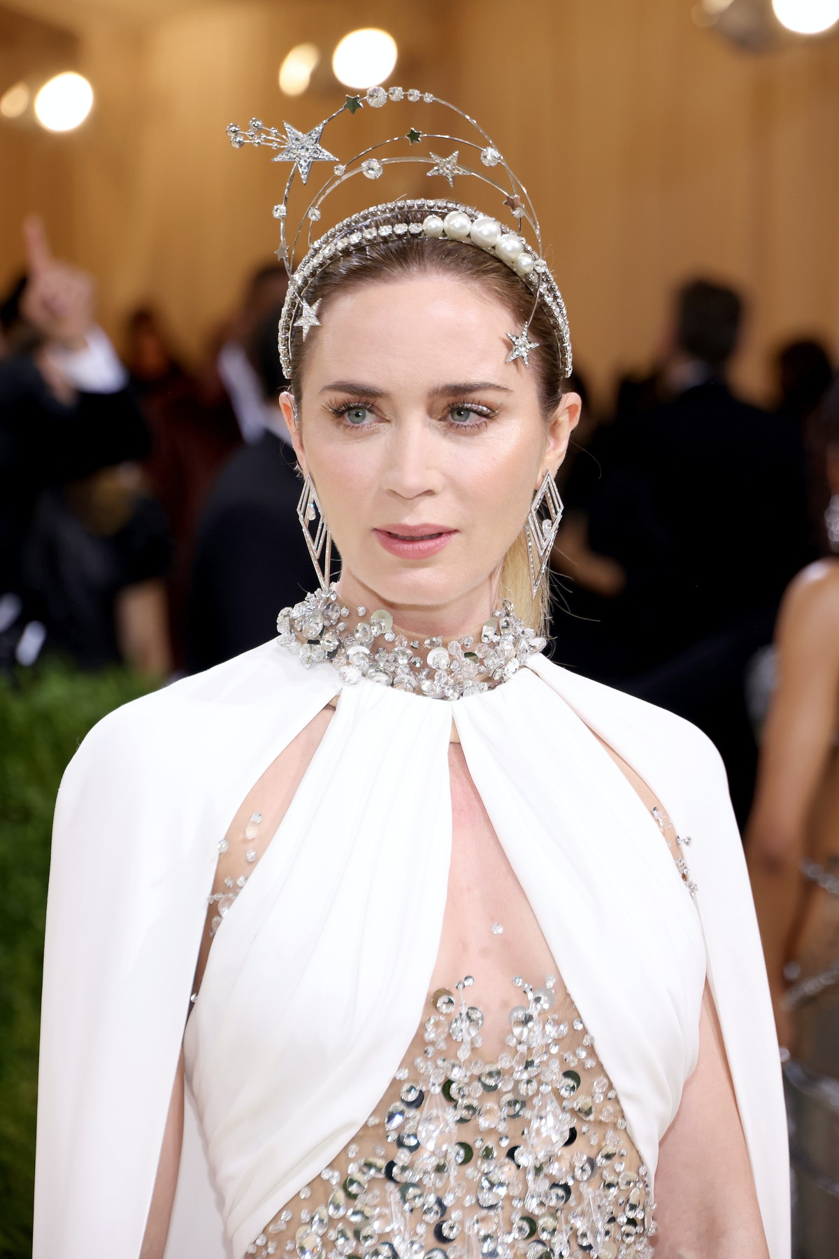 NEW YORK, NEW YORK - SEPTEMBER 13: Emily Blunt attends The 2021 Met Gala Celebrating In America: A L...