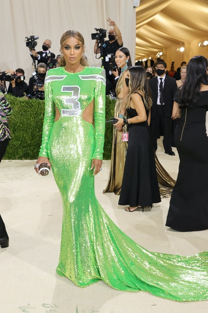 NEW YORK, NEW YORK - SEPTEMBER 13: Ciara attends The 2021 Met Gala Celebrating In America: A Lexicon...