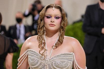 NEW YORK, NEW YORK - SEPTEMBER 13: Barbie Ferreira attends The 2021 Met Gala Celebrating In America:...