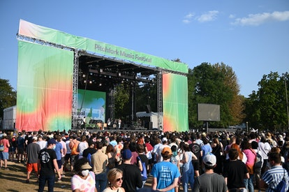 CHICAGO, ILLINOIS - SEPTEMBER 10: A general view of crowds during Pitchfork Music Festival 2021 at U...