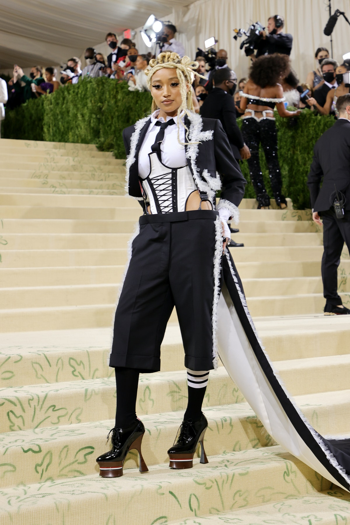 NEW YORK, NEW YORK - SEPTEMBER 13: Amandla Stenberg attends The 2021 Met Gala Celebrating In America...