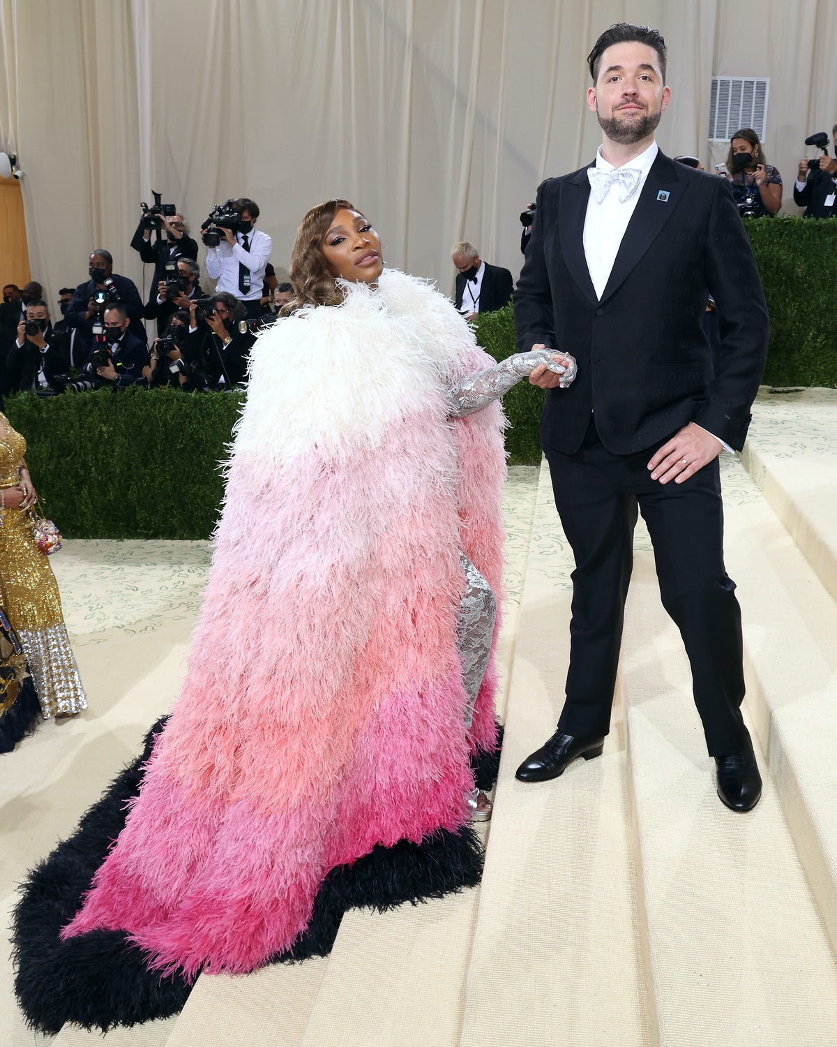 NEW YORK, NEW YORK - SEPTEMBER 13: Serena Williams and Alexis Ohanian attend the 2021 Met Gala benef...