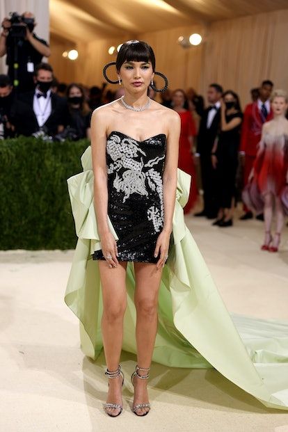 NEW YORK, NEW YORK - SEPTEMBER 13: Gemma Chan attends The 2021 Met Gala Celebrating In America: A Le...