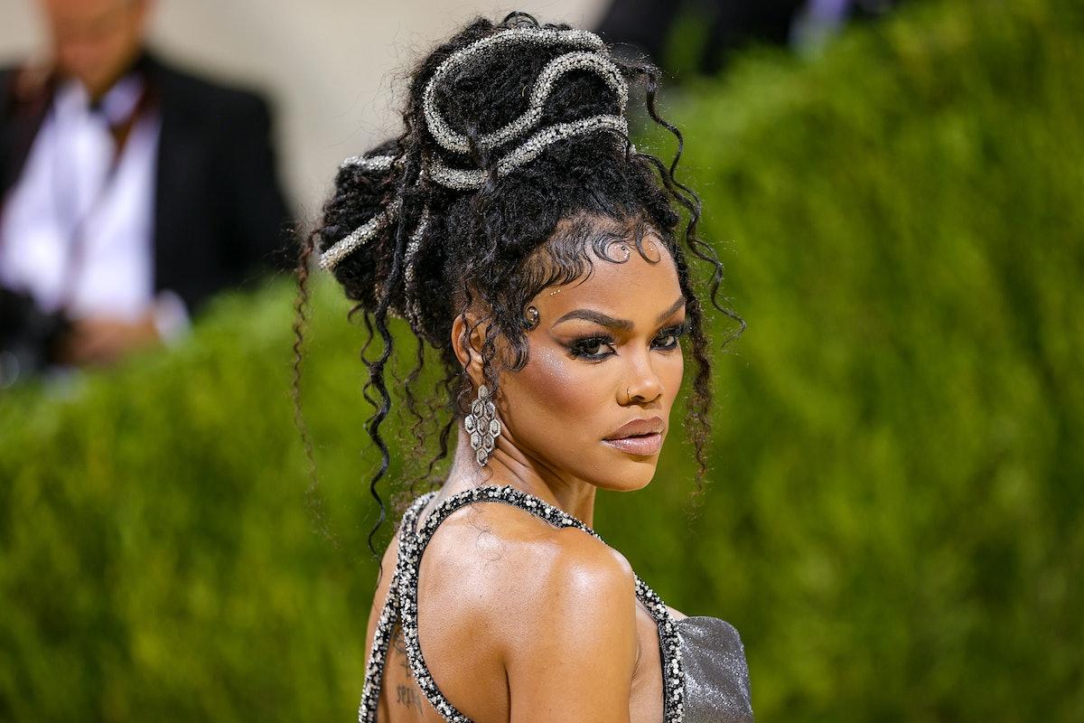 NEW YORK, NEW YORK - SEPTEMBER 13: Teyana Taylor attends The 2021 Met Gala Celebrating In America: A...