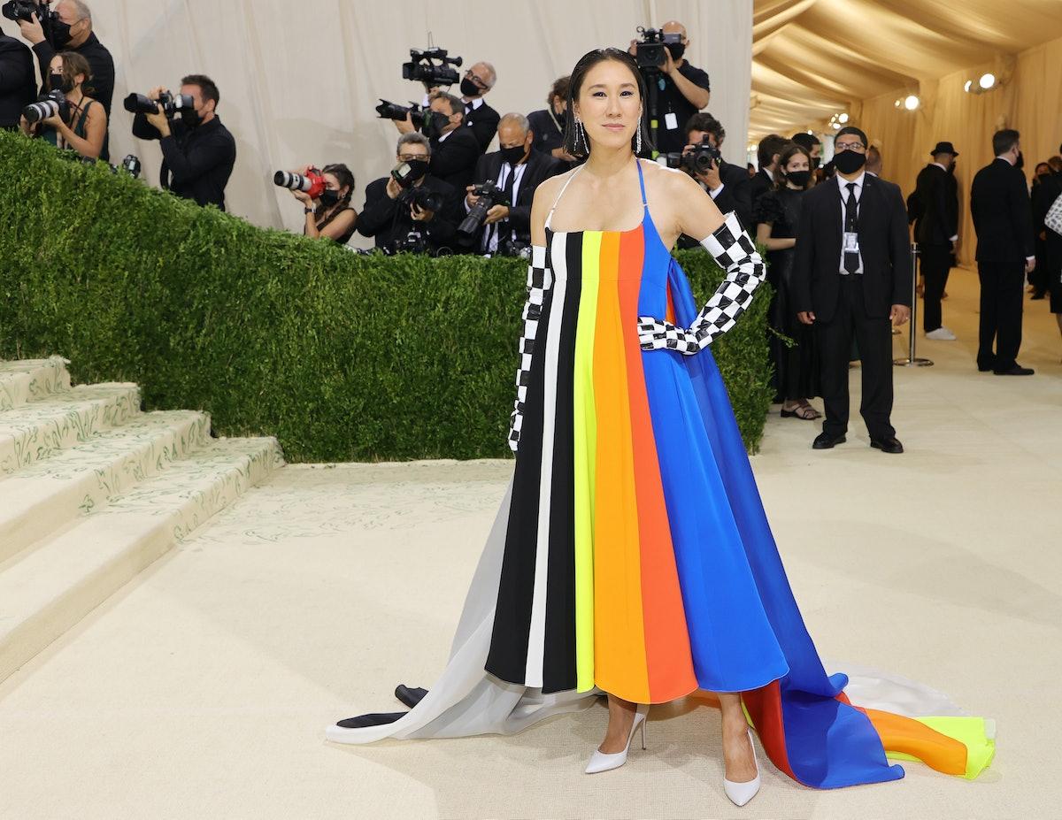 NEW YORK, NEW YORK - SEPTEMBER 13: Eva Chen attends The 2021 Met Gala Celebrating In America: A Lexi...
