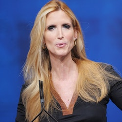 Author Ann Coulter speaks during an address to the 39th Conservative Political Action Committee Febr...