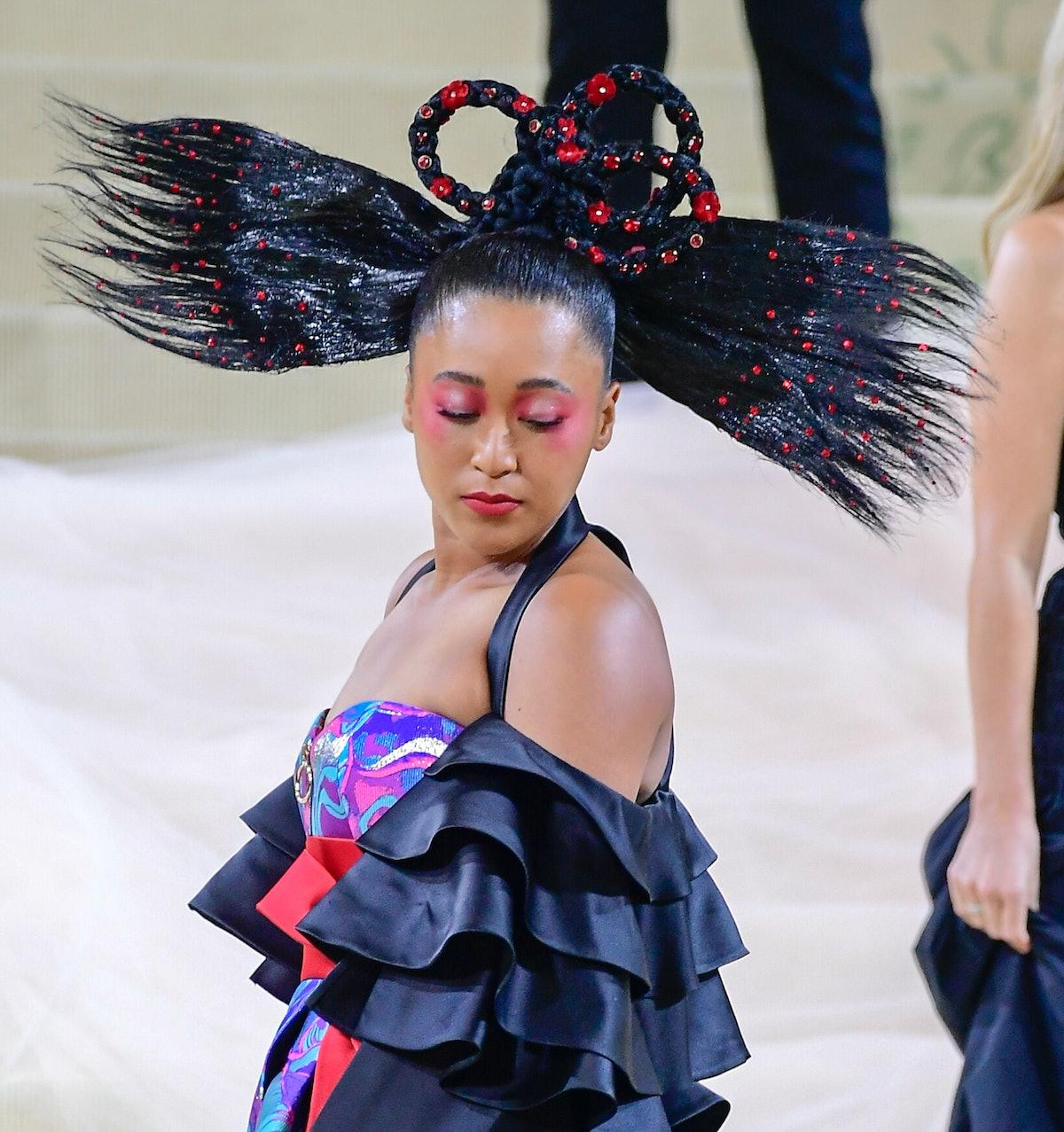 NEW YORK, NY - SEPTEMBER 13:  Naomi Osaka attends Met Gala 2021 on September 13, 2021 in New York Ci...