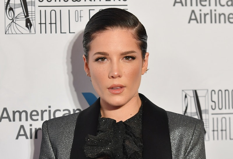 US singer-songwriter Halsey attends the 2019 Songwriters Hall Of Fame Gala at The New York Marriott ...