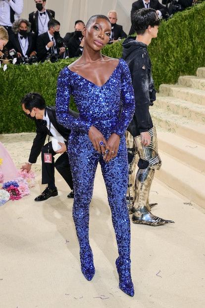 NEW YORK, NEW YORK - SEPTEMBER 13: Michaela Coel attends The 2021 Met Gala Celebrating In America: A...