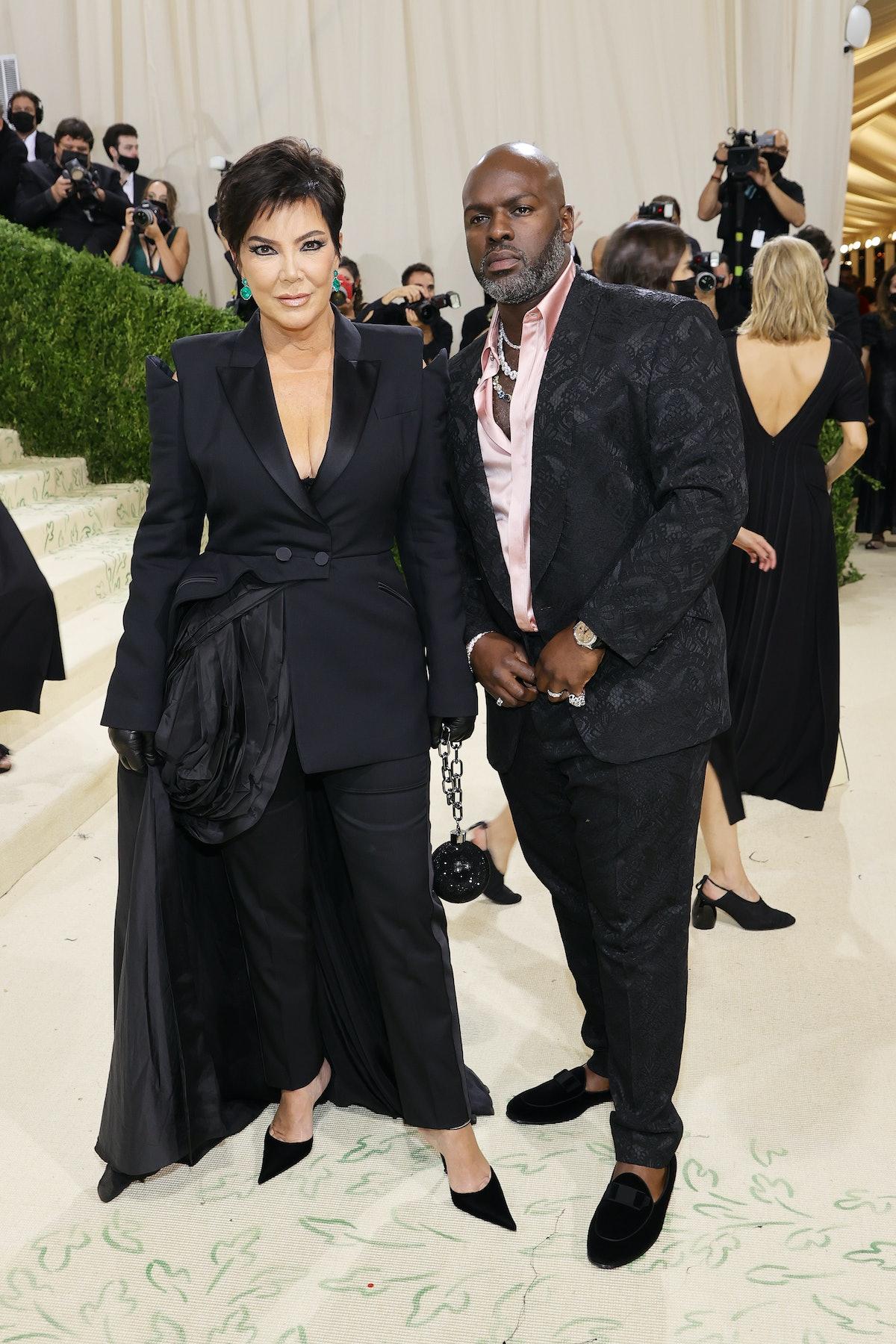 Kris Jenner and Corey Gamble attend The 2021 Met Gala